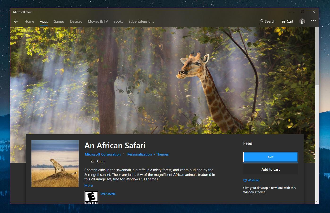 microsoft store themes for windows 10