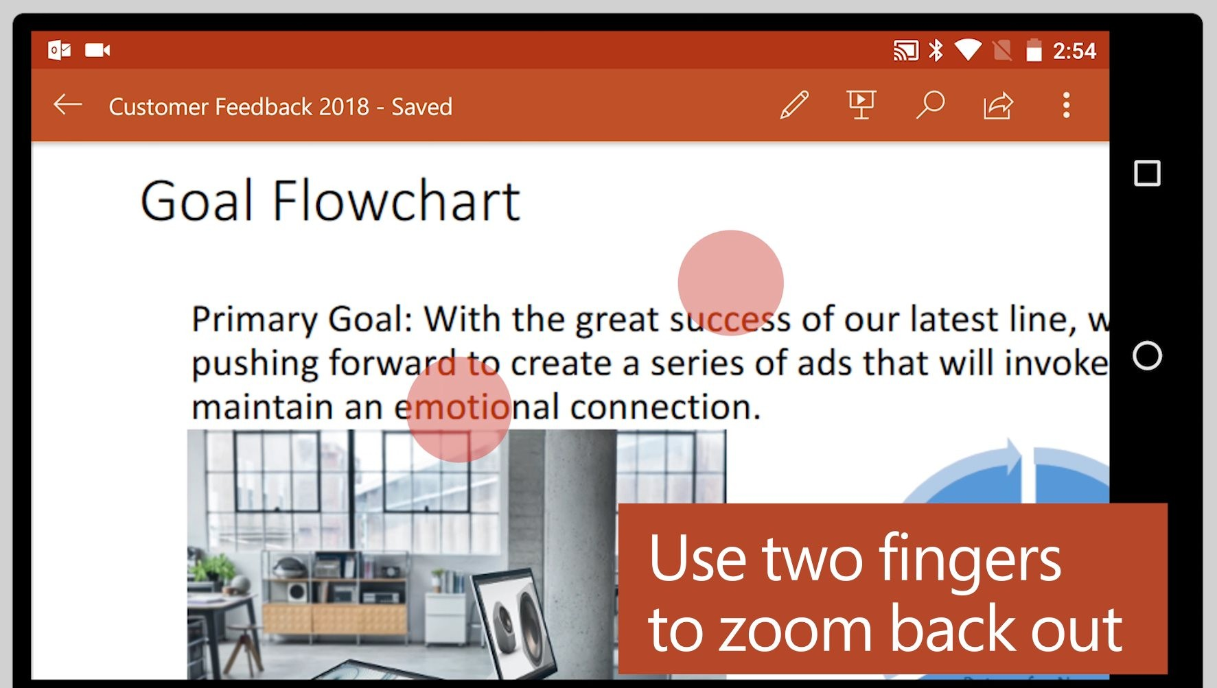 f7d141dd22d The zooming experience has been greatly improved in Office for Android