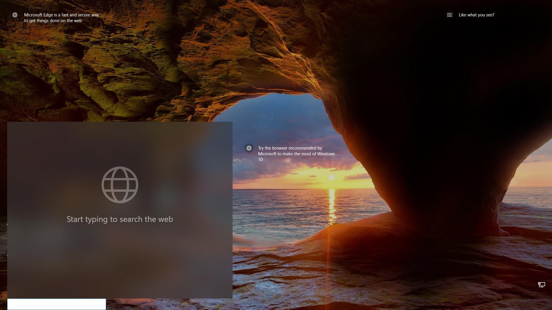 Microsoft Brings a Search Box on the Windows 10 Lock Screen