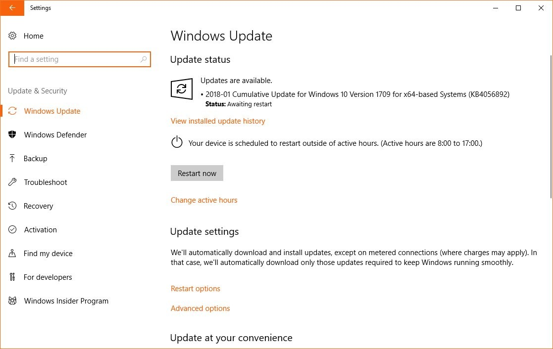 Microsoft Confirms Windows 10 Update KB4056892 (Meltdown & Spectre ...