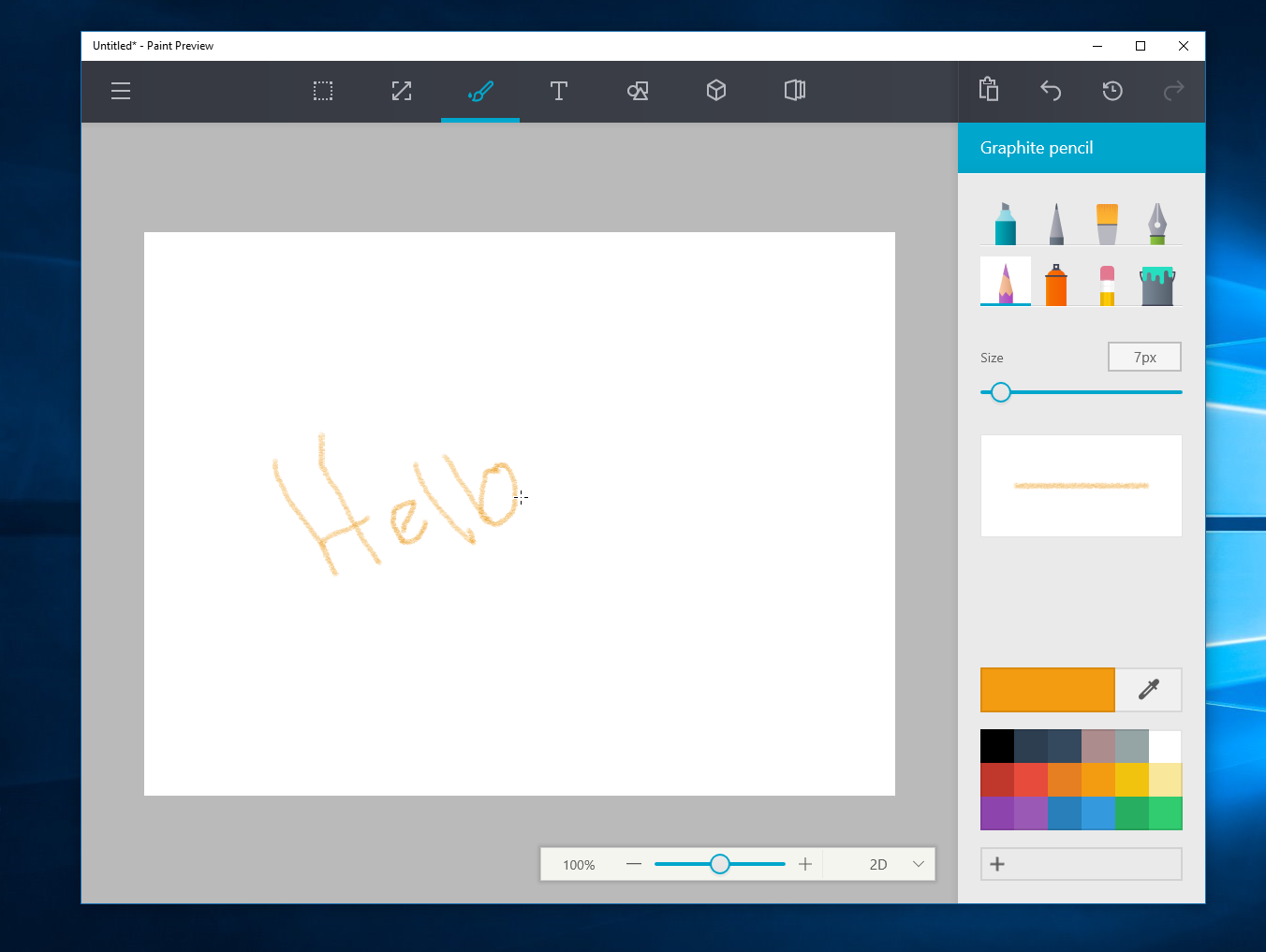 Microsoft's redesigned paint app for windows 10 looks awesome.