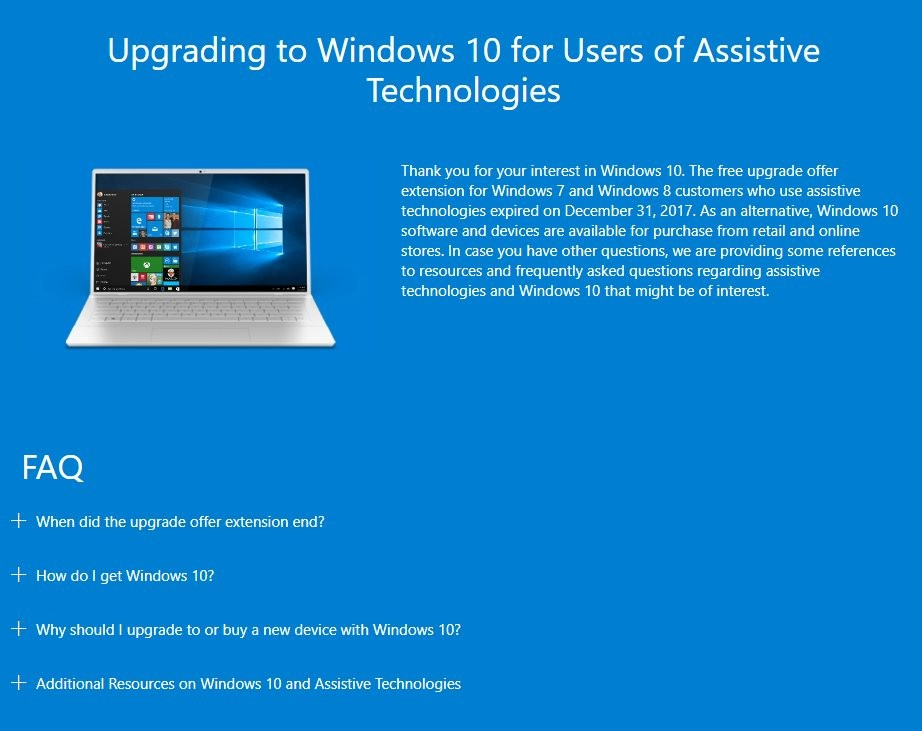 Microsoft Ends Free Windows 10 Upgrades