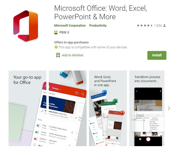 Microsoft Releases Unified Android App for Word, Excel, PowerPoint