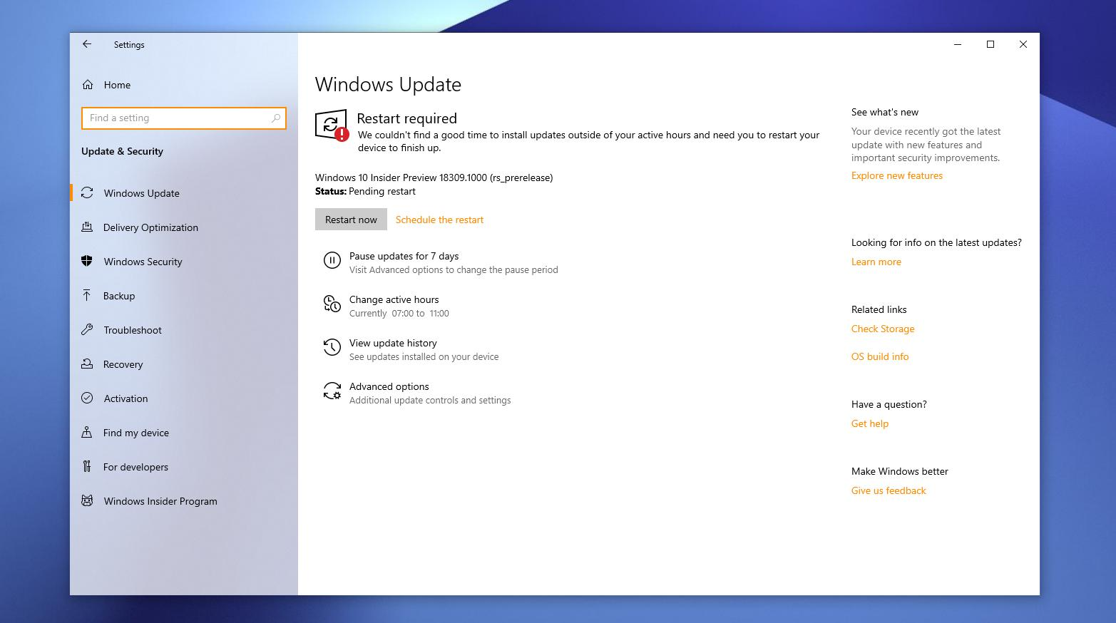 This new build is available for Fast ring insiders