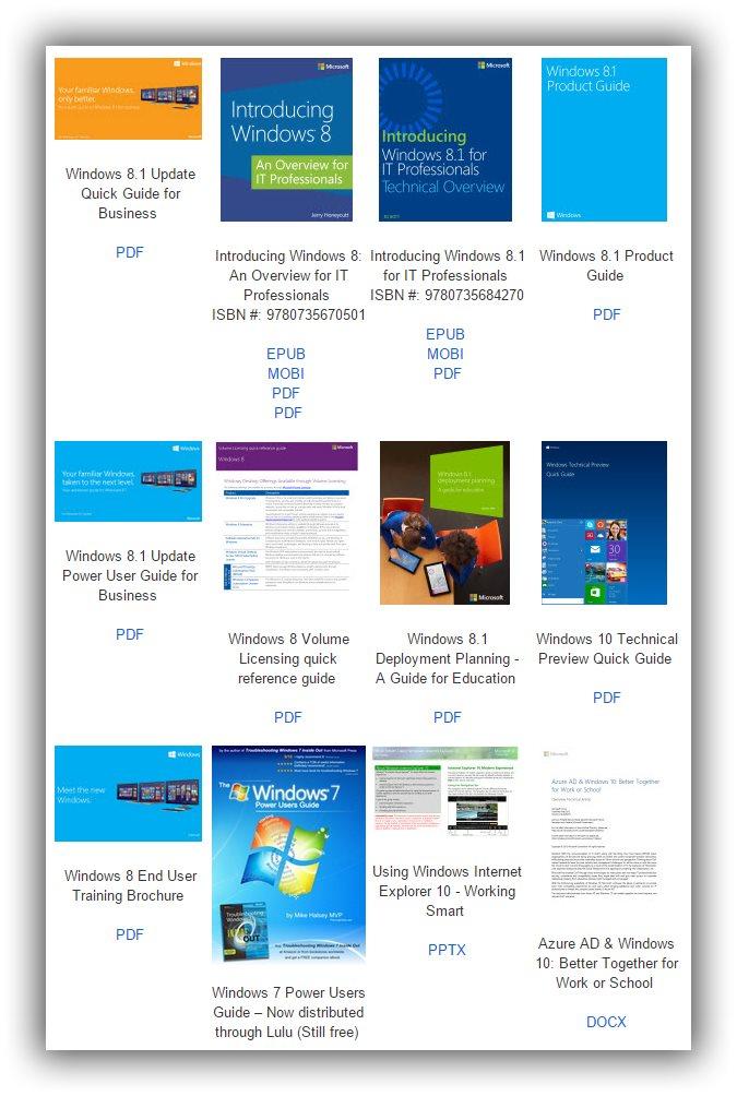 Microsoft Gives Away Hundreds of Windows 10, Office eBooks