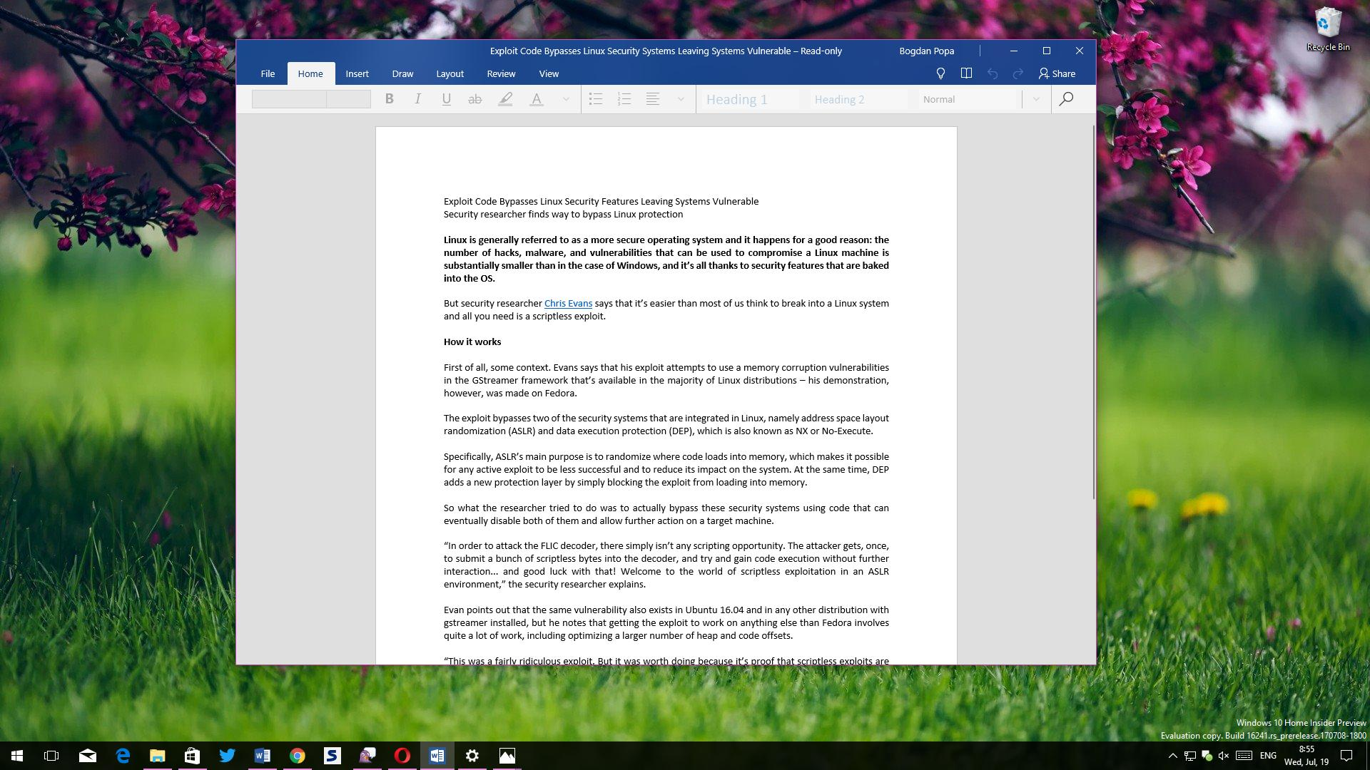 Microsoft Office Updated with Fluent Design on Windows 10