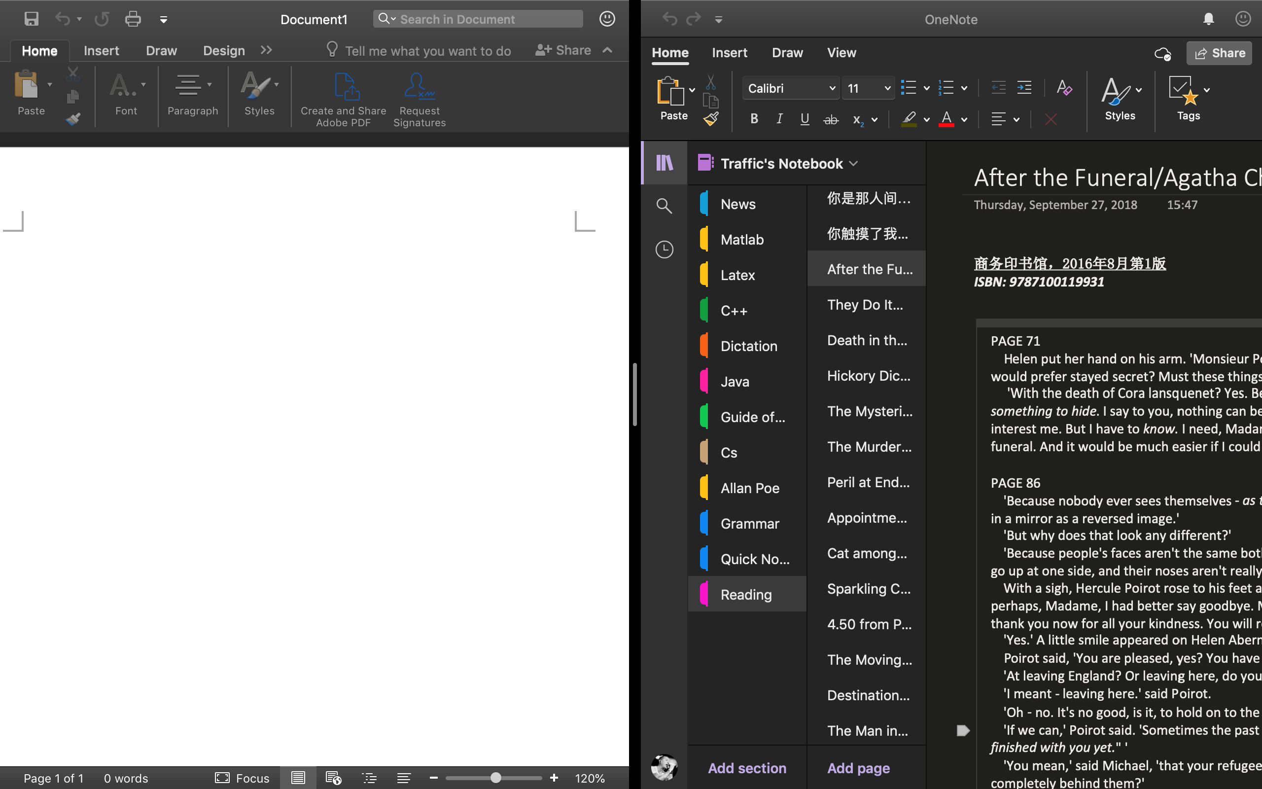 Microsoft OneNote's Dark Mode Goes Live on the Mac for Testers