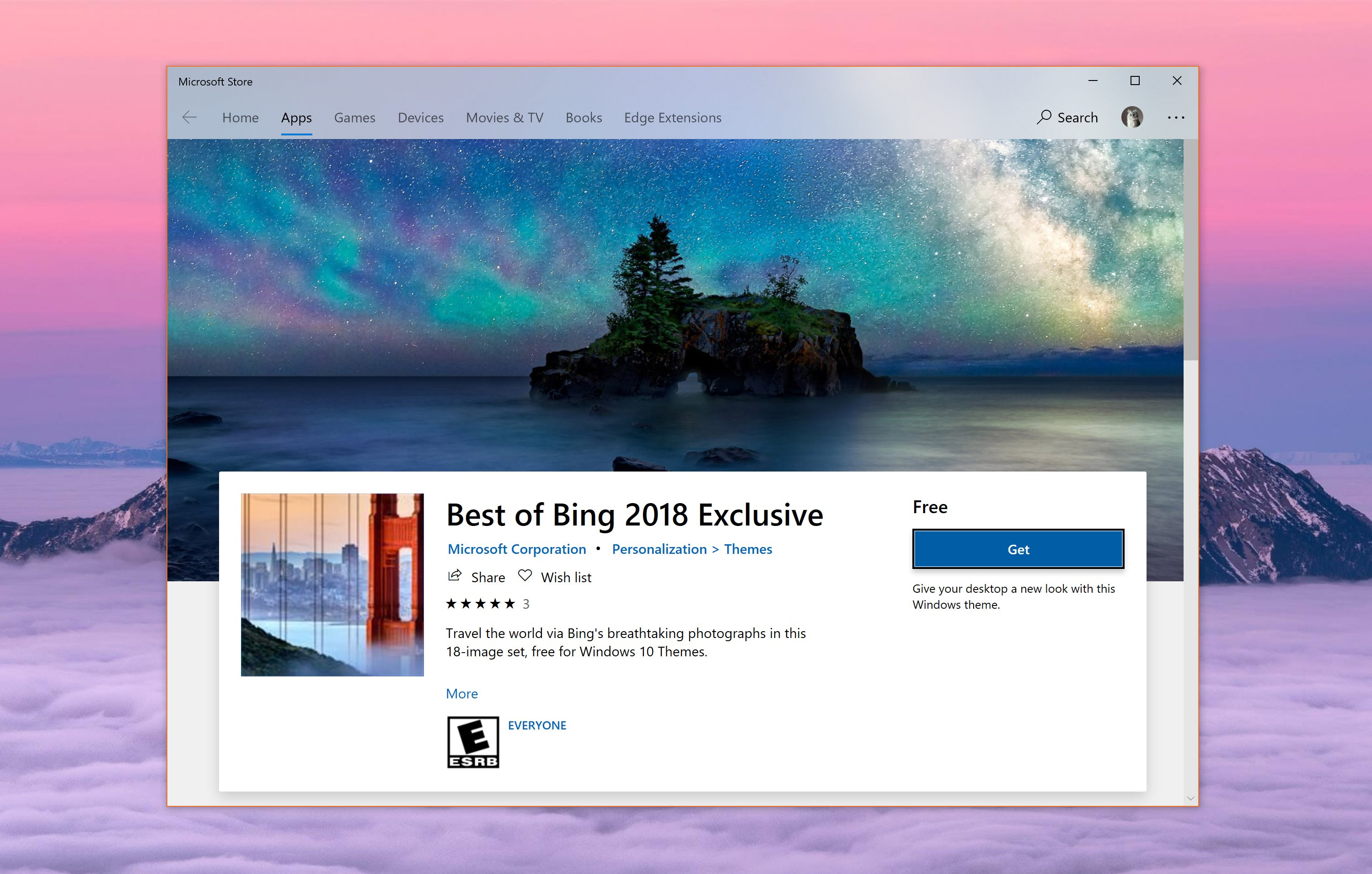 The theme is available free of charge for Windows 10 users