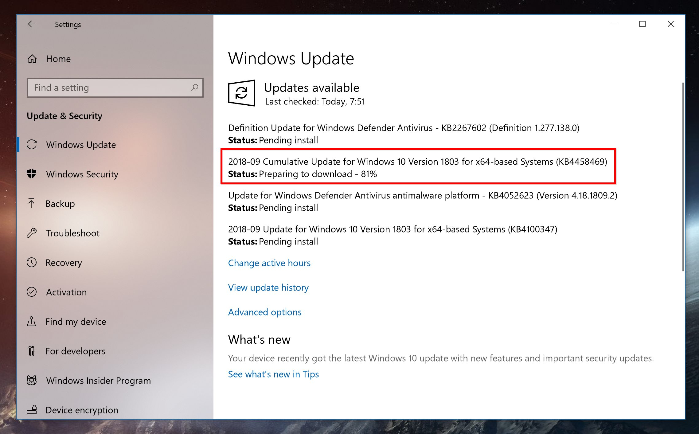 download and install windows 10 1803
