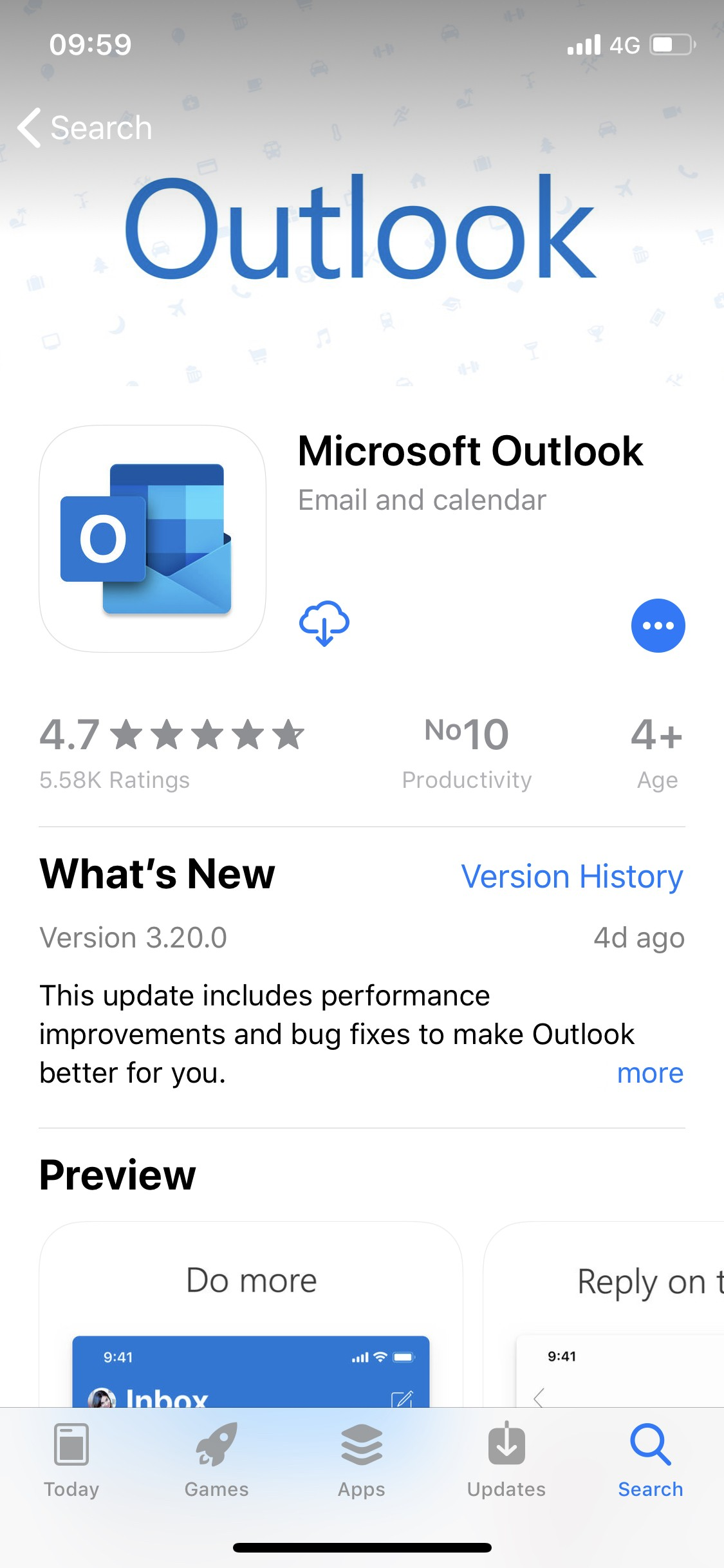 Microsoft's Email App Installed on More than 100 Million iPhones and