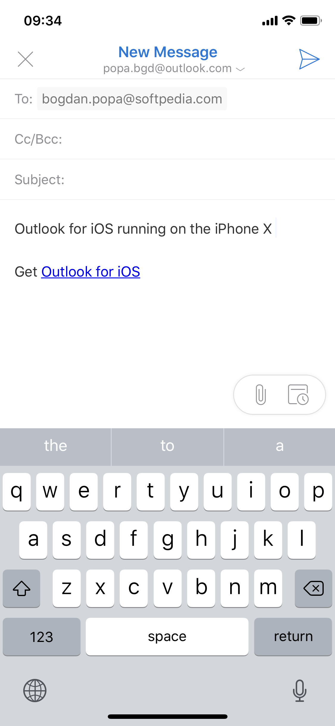 how to add email to iphone x