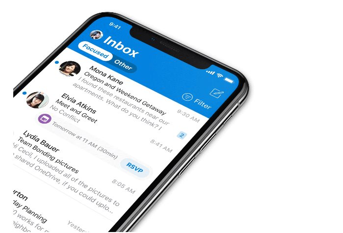 Microsoft's iPhone Email App Updated with New Design, Haptic