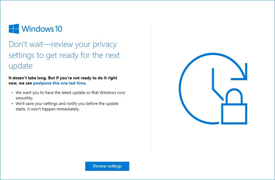 Microsoft Starts Nagging Windows 10 Users to Update Systems