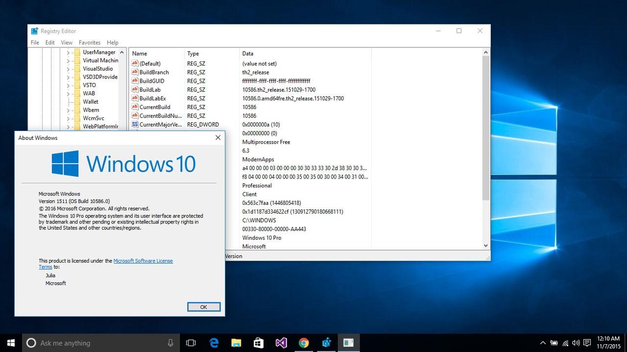 Windows 10 Versio