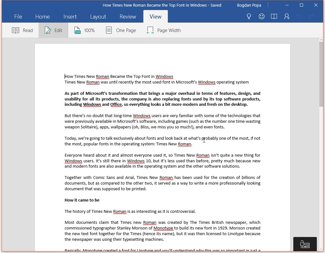 free word program for windows 10