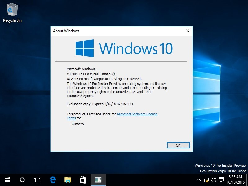 Microsoft to Retire Windows 10 Version 1511 in October