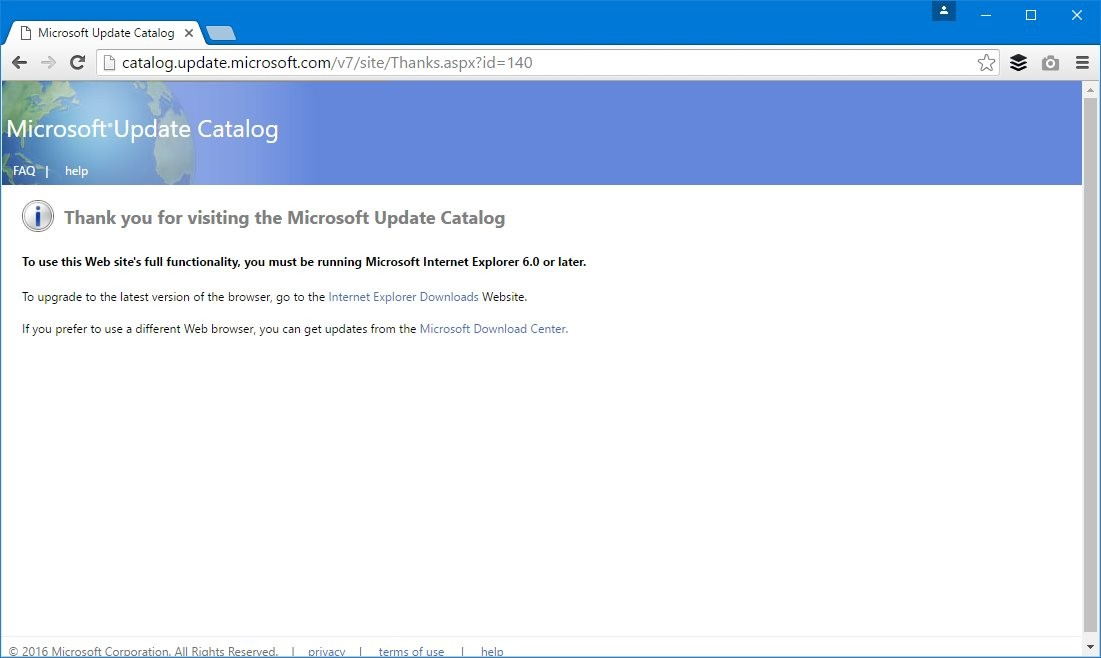 Microsoft Update Catalog to Work in Chrome and Firefox Too