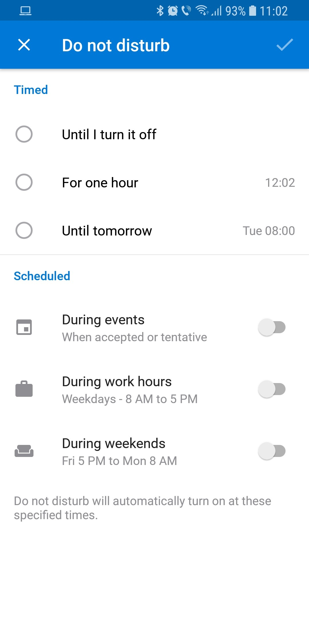 Microsoft Updates Its Android Email App with Do Not Disturb Features