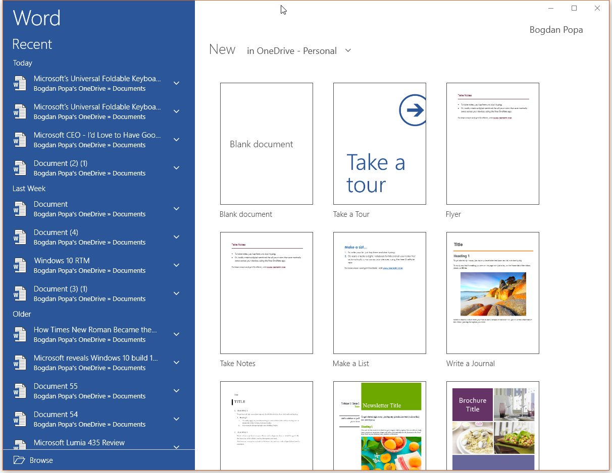 where to find microsoft word in windows 10