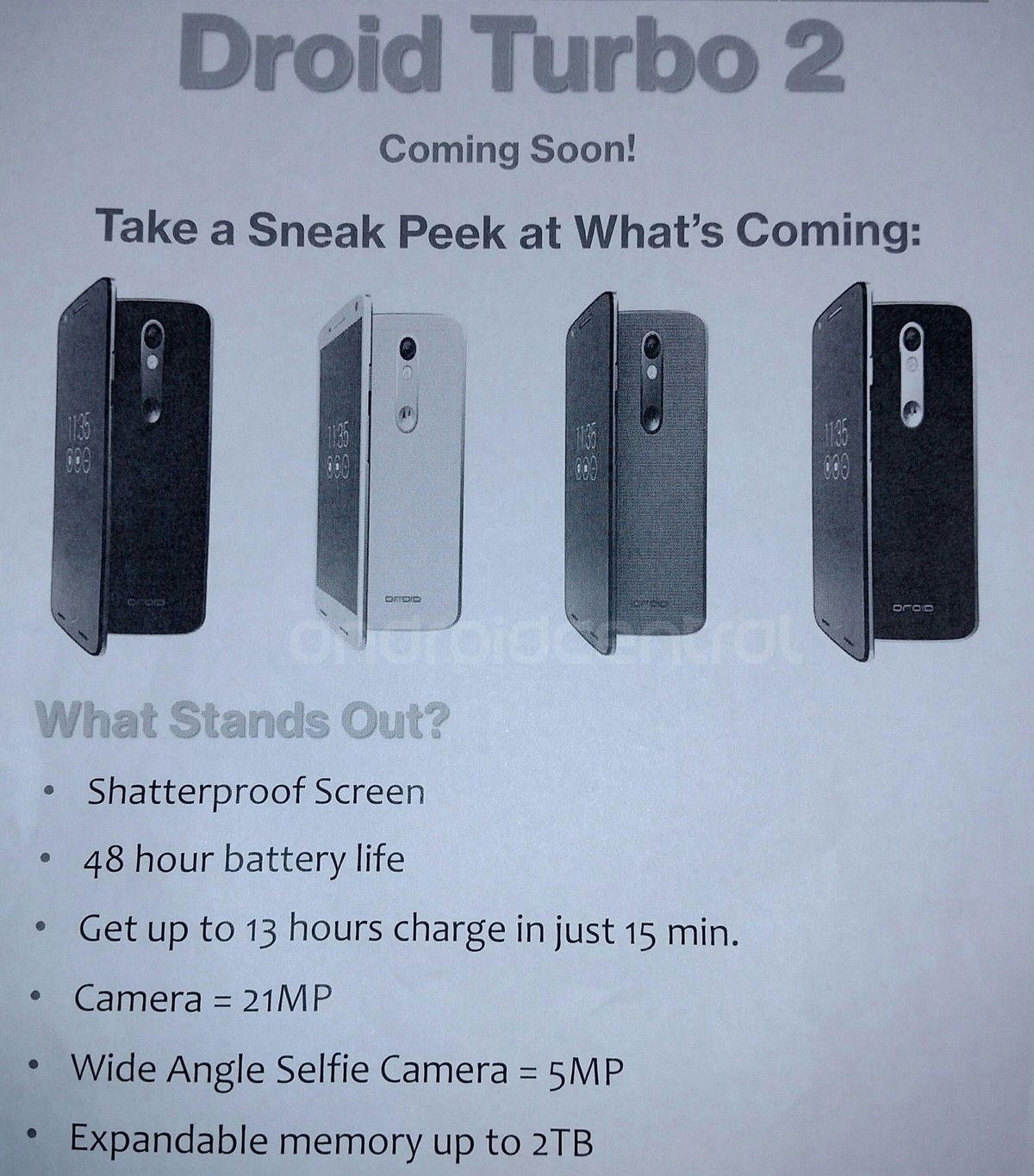 Motorola DROID Turbo 2 Leaked Info Sheet Confirms SD Card Slot (Up