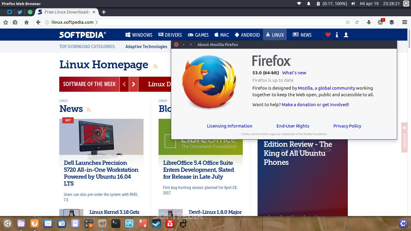 Mozilla Firefox 53 0 Web Browser Drops Linux Support for Older