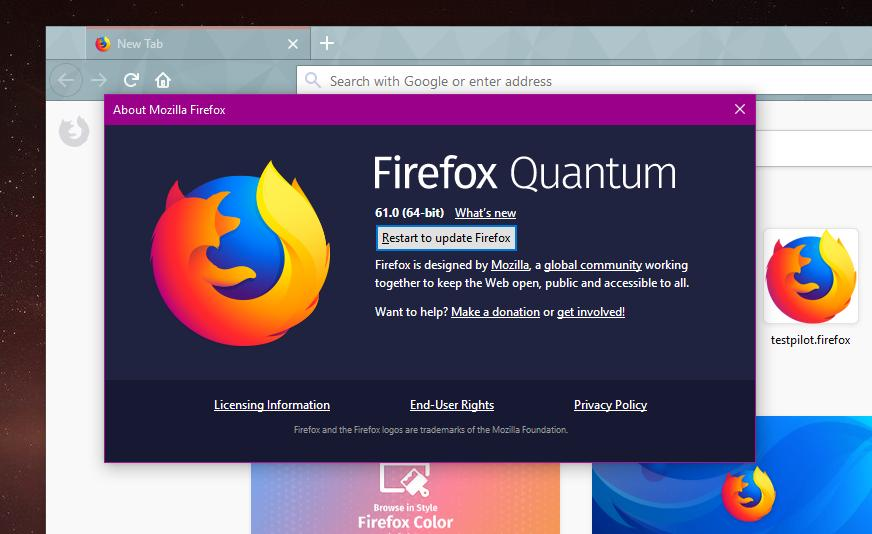 Mozilla Firefox 61 0 2 Now Available for Download