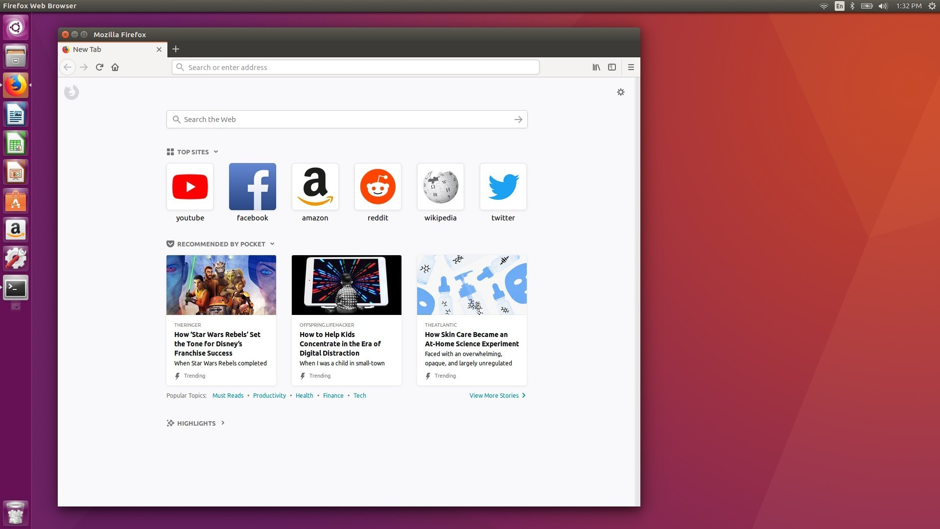 Mozilla firefox 61 quantum web browser is now available for ubuntu mozilla firefox on ubuntu linux stopboris Choice Image