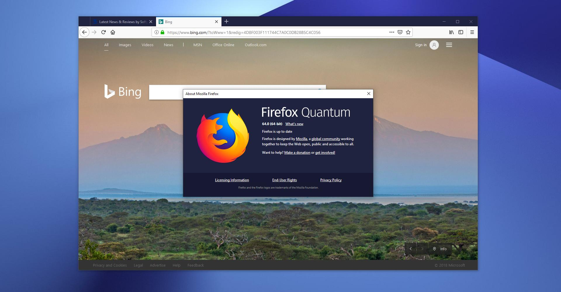 Mozilla firefox 64 now available for download on windows, linux.