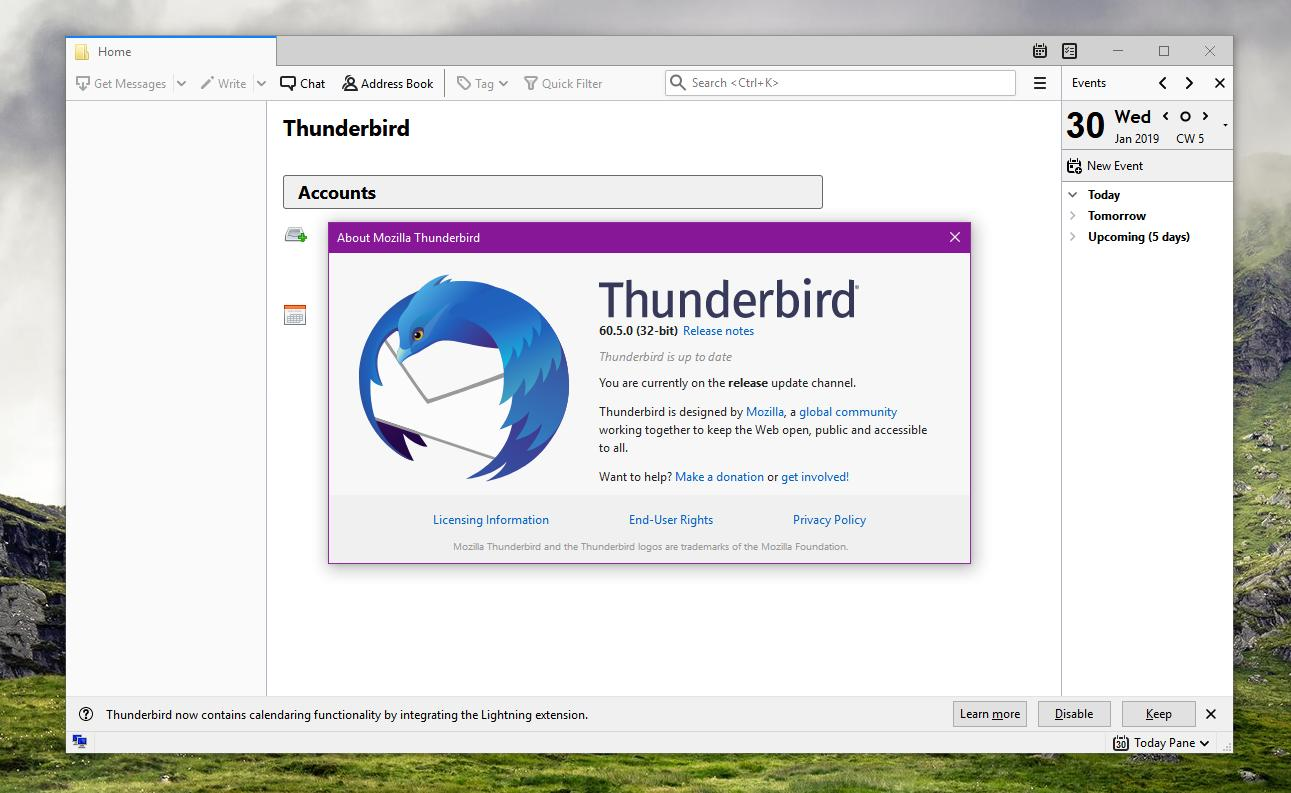 Mozilla Thunderbird 60 5 0 Now Available for Download