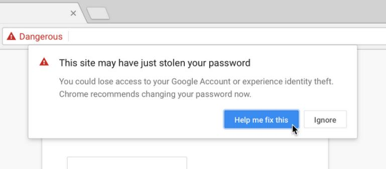 Predictive phishing protection in Chrome