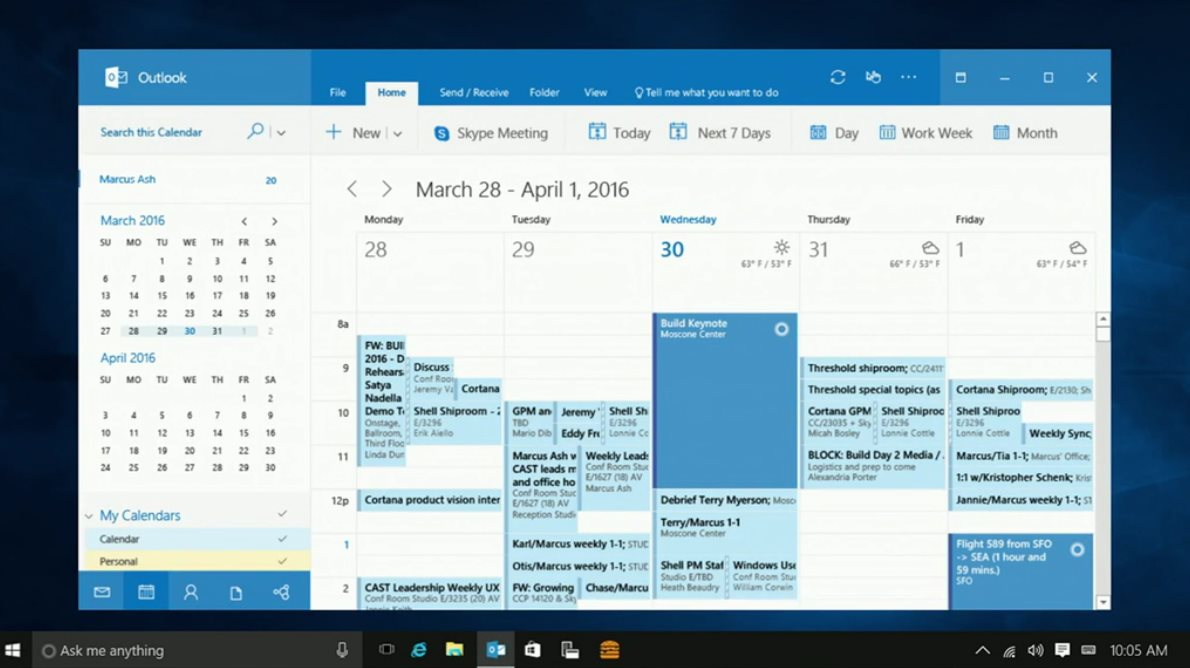New Windows 10 Features Coming: Cortana on the Lock Screen, Outlook