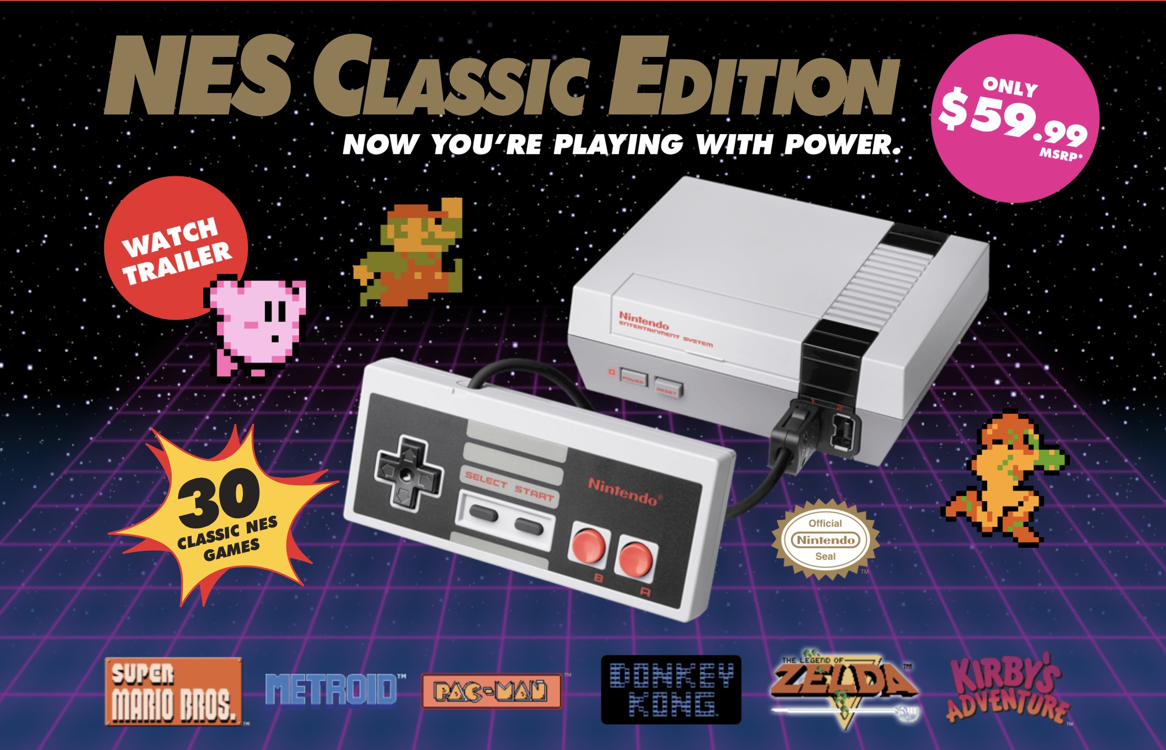 Nintendo's NES Classic Edition Retro Games Console Returns