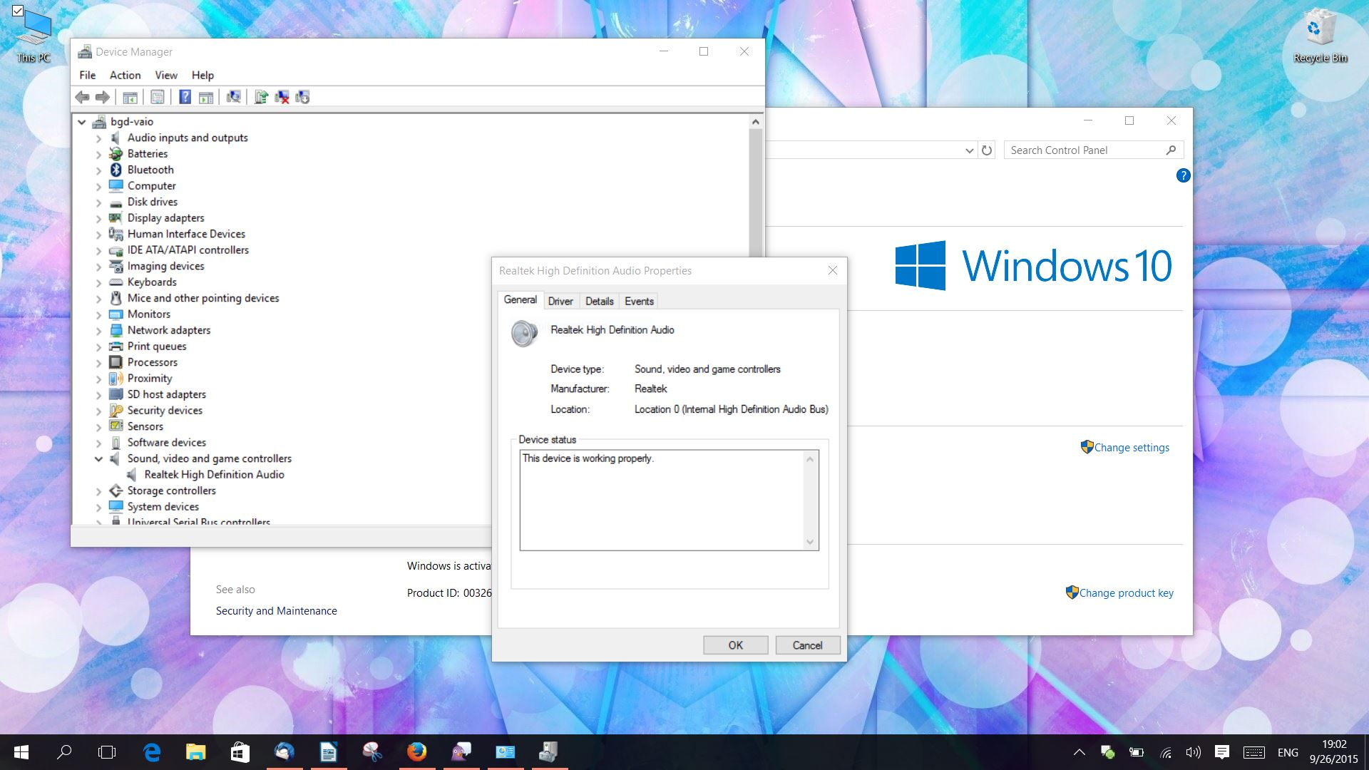 realtek audio drivers windows 10 no sound