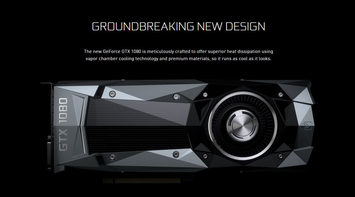 NVIDIA Rolls Out New Driver for Its GeForce GTX 1080 GPU