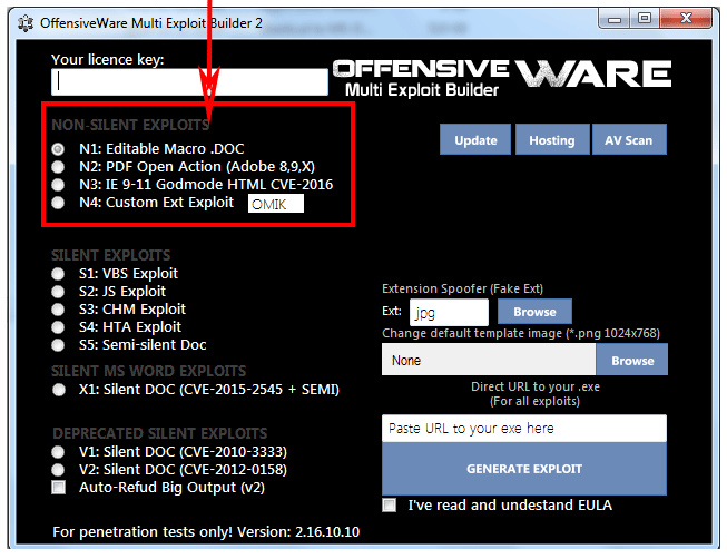 OffensiveWare Sold on Hacking Forums as Exploit Builder and