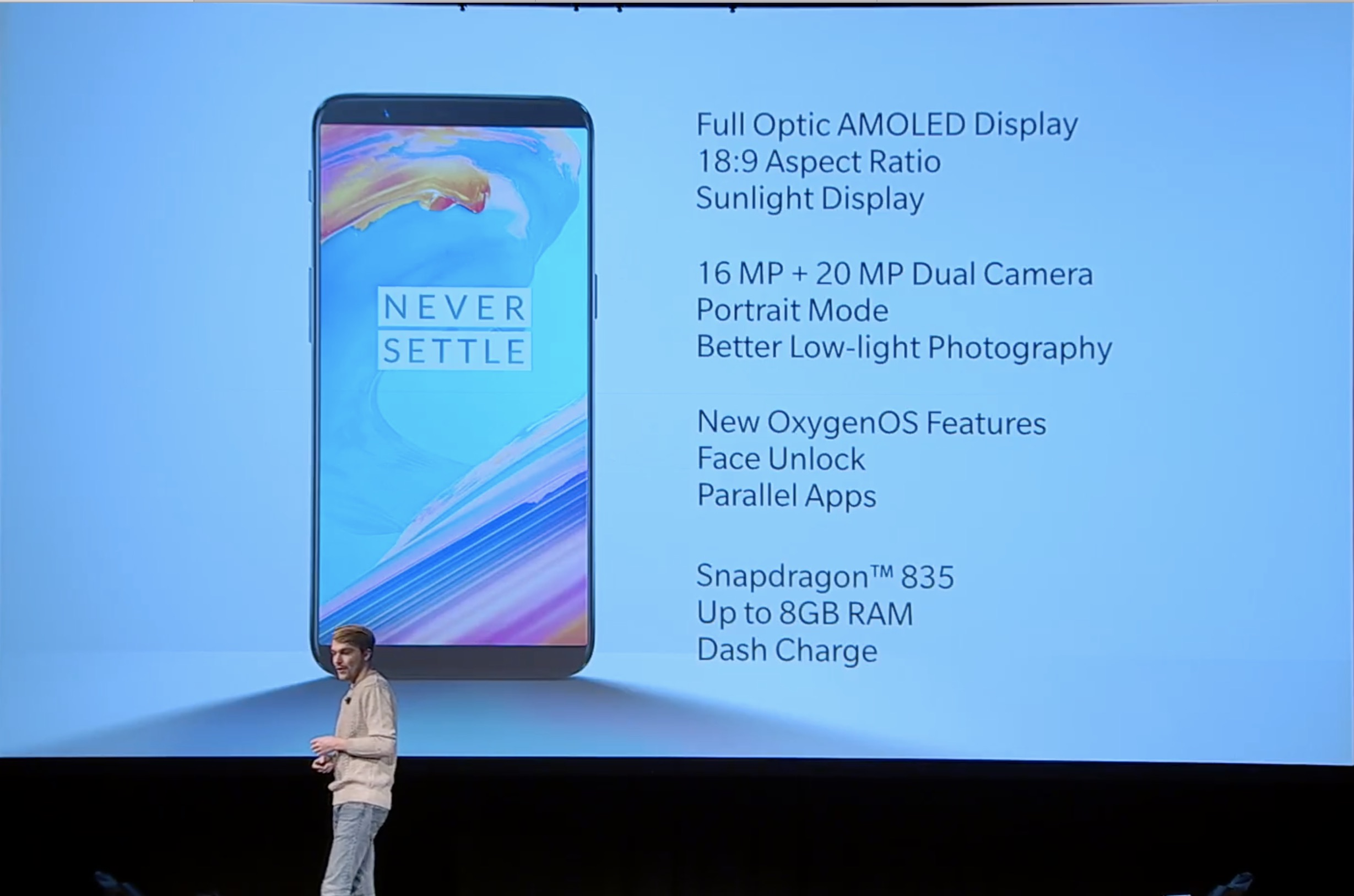 OnePlus 5T Keeps the Headphone Jack, Introduces Face Unlock and