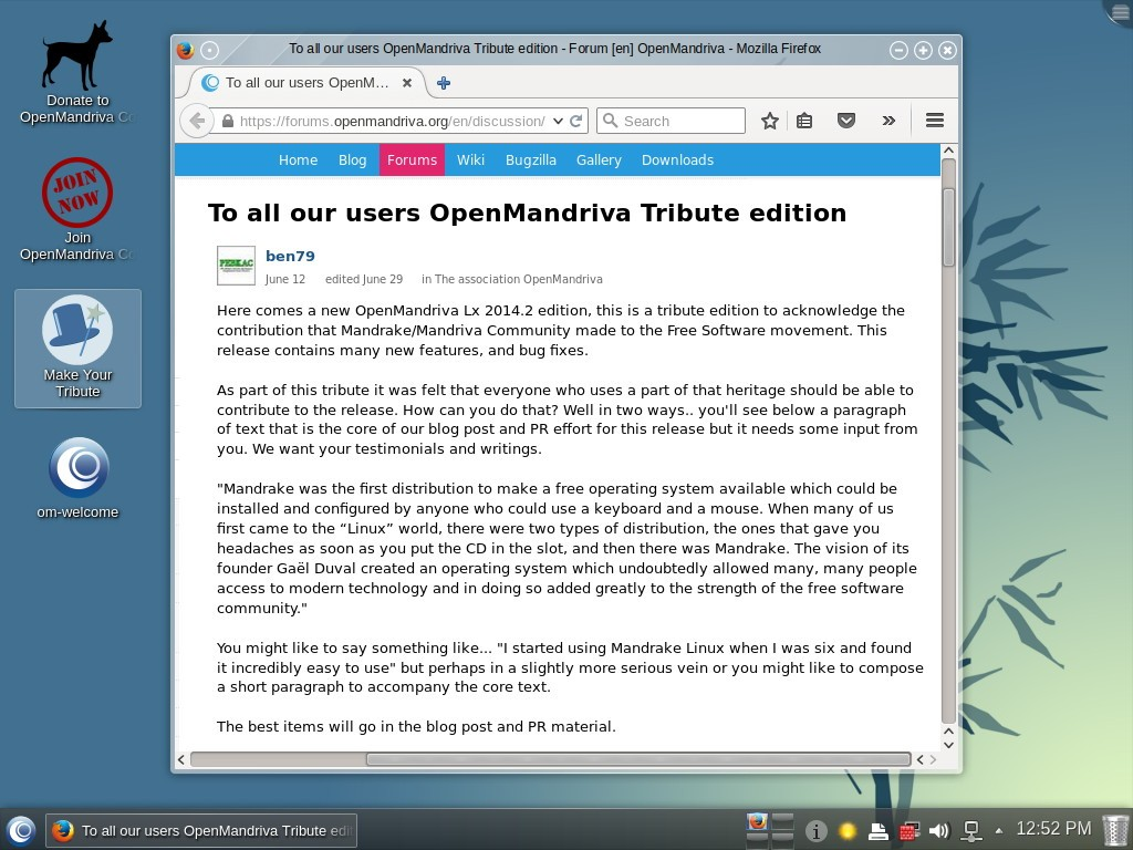 OpenMandriva Lx 2014 2 Officially Released as a Tribute to