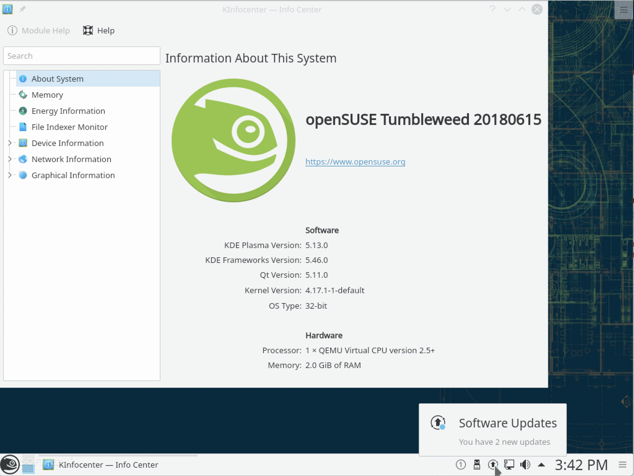 openSUSE Tumbleweed Is Now Powered by Linux Kernel 4 17, KDE
