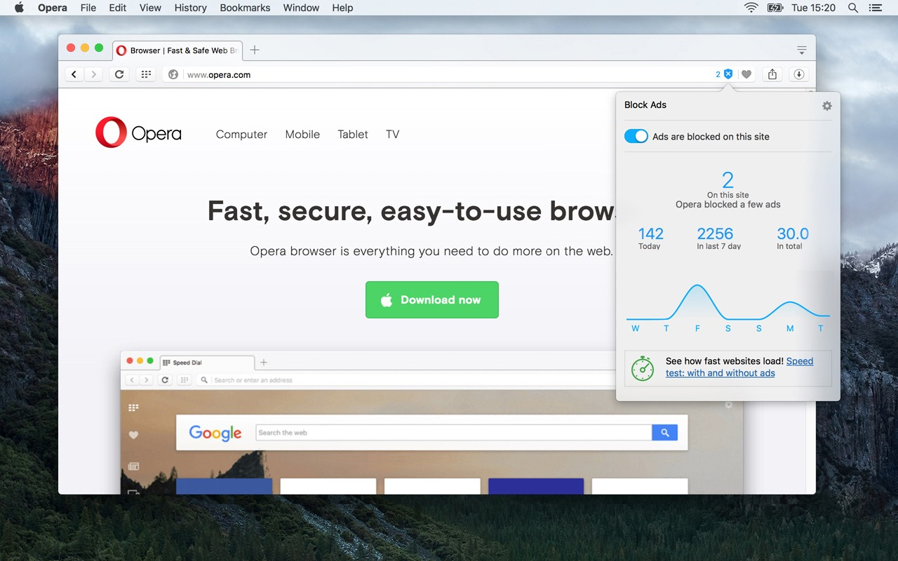 Opera Browser's Ad Blocker Now Available for Stable Desktop and