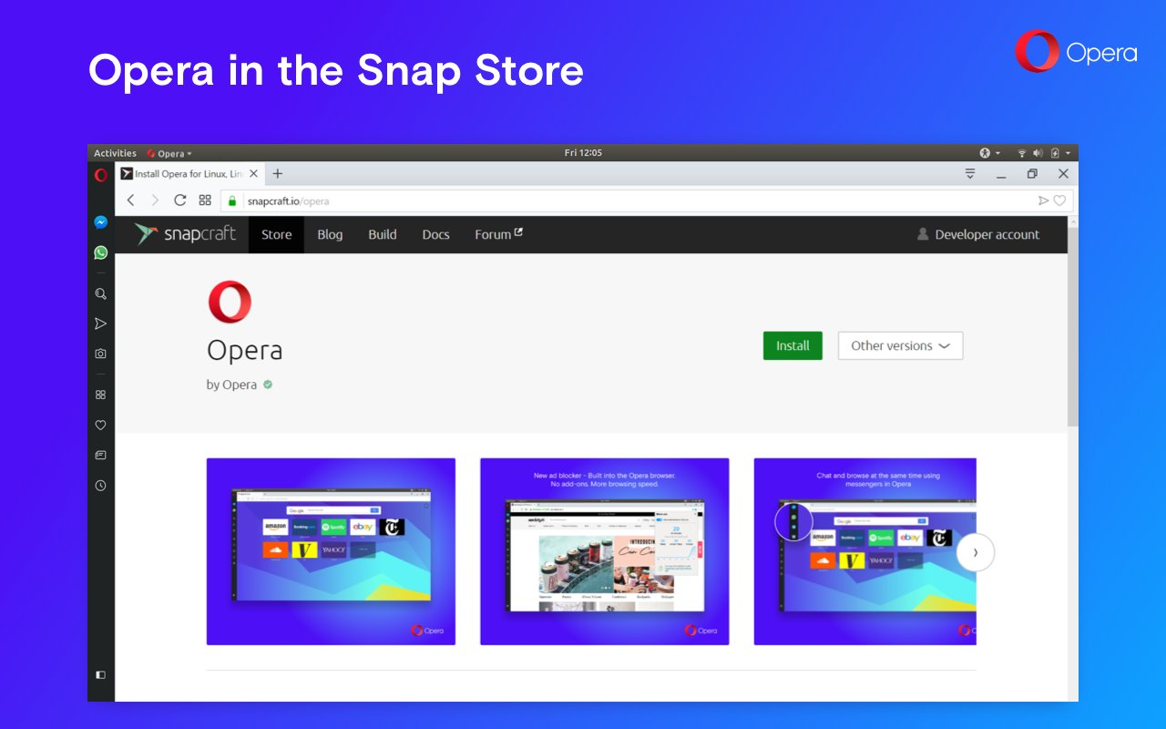 Opera Web Browser Is Now Available as a Snap on Ubuntu, Other Linux