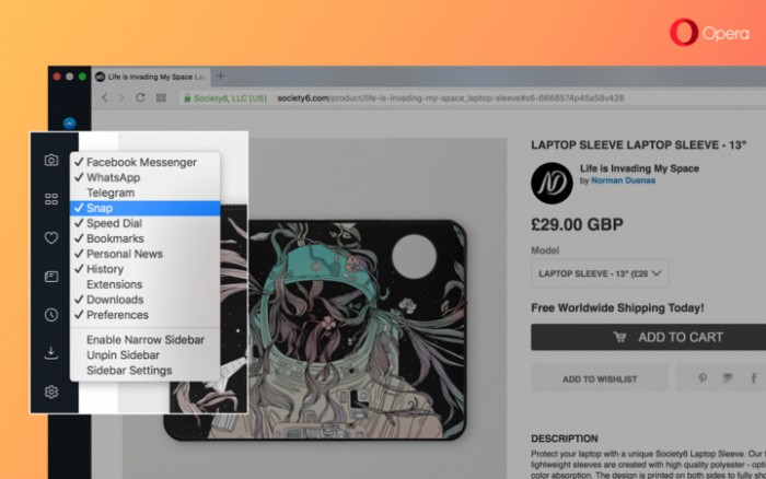 Opera Web Browser Now Has a Screen Capture Utility, Too, and