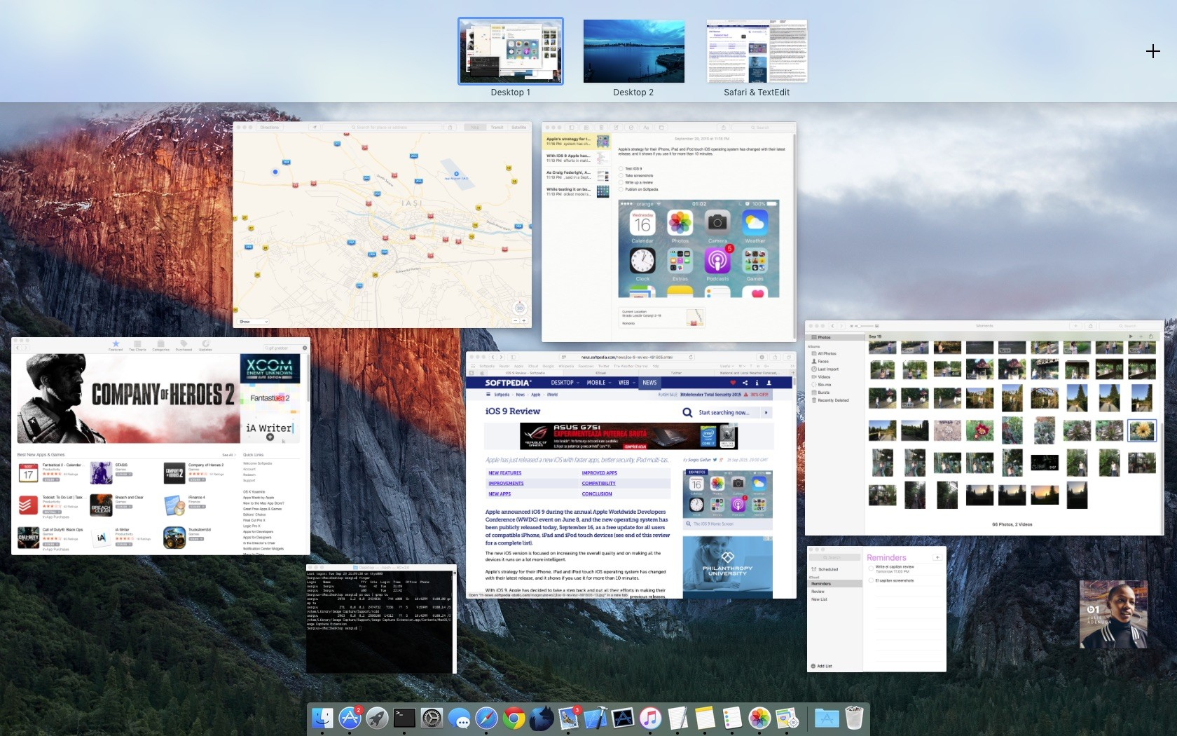 Os x 1011 el capitan review improved built in apps and a faster the os x el capitan desktop ccuart Gallery