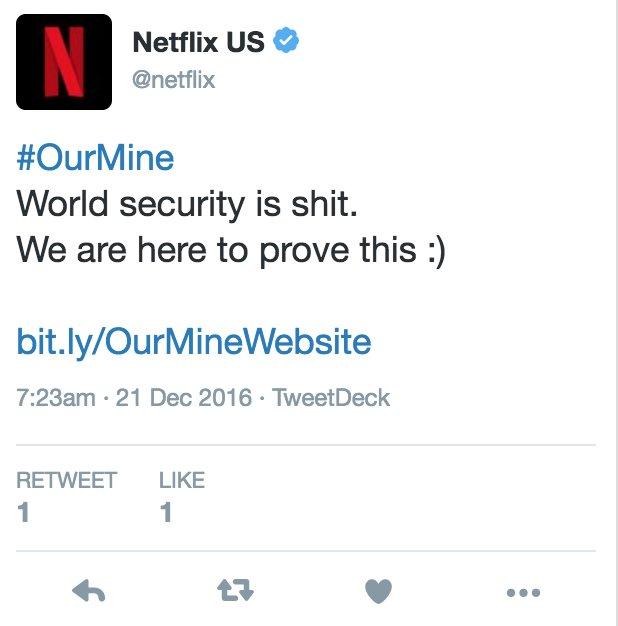 OurMine Hacks Netflix's Twitter Account
