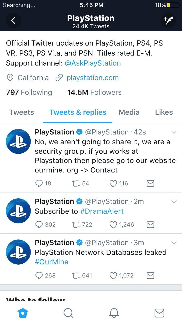 psn hacked account