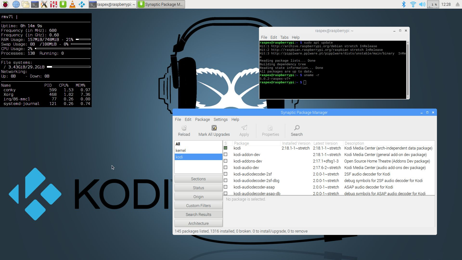 RaspEX Project Brings Kodi 18 1 and Linux Kernel 5 0 to