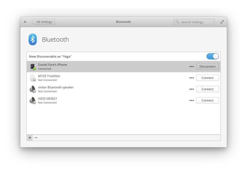 Redesigned Bluetooth Settings Pane Coming Soon to elementary