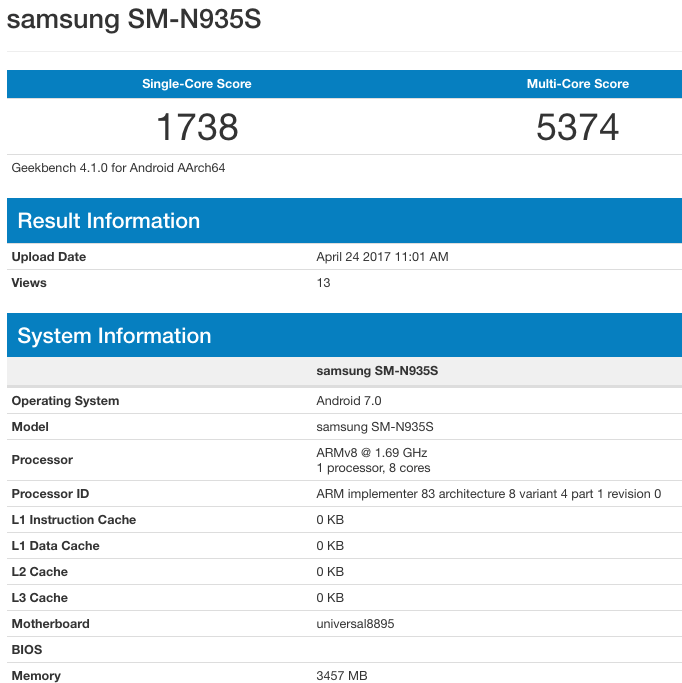 Refurbished Galaxy Note 7 Running Exynos 8890 and 8895 SoC ...