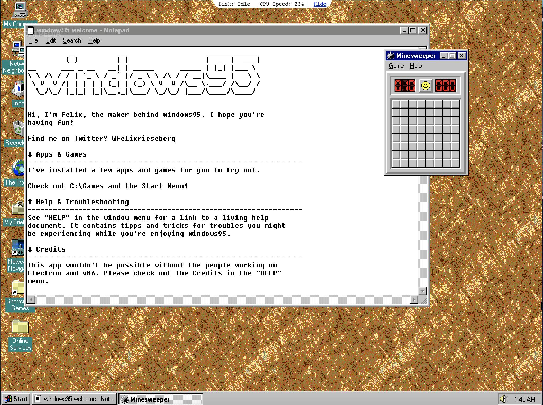 Running Windows 95 on Linux, Mac, and Windows 10 Just Got a