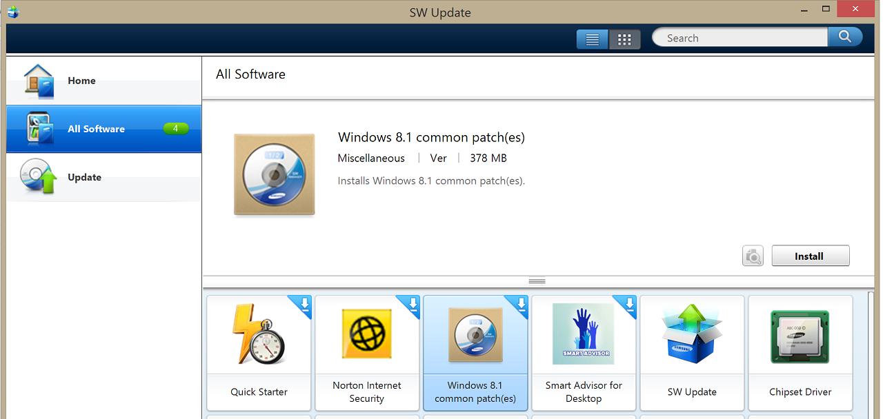 Samsung SW Update Tool