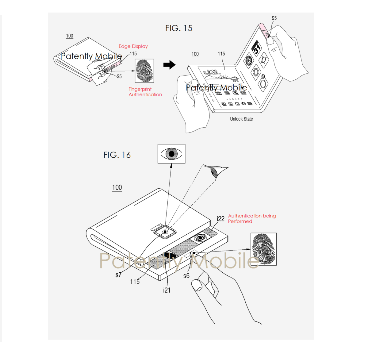 Samsung Foldable Phone Patent Reveals Multiple Biometric ID